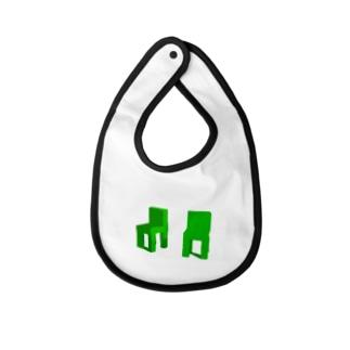 グリーンチェア Baby bibs
