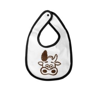 三宿のテイクアウト店SIRCARSの公式キャラクターモービーグッズ Baby bibs