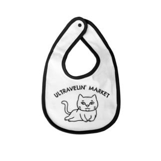 ULTRAVELIN' MARKETの寝そべり猫 Baby bibs