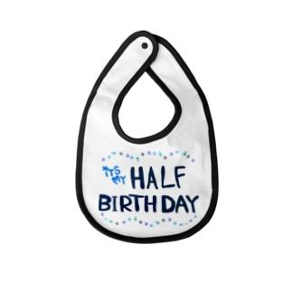 half birthday  Baby Bib