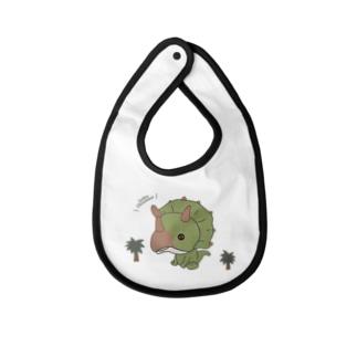 トリケラトプス(恐竜) Baby bibs