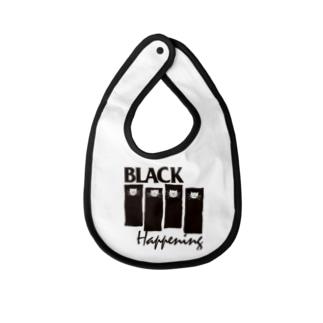 BLACK HAPPENING(ver2) Baby bibs