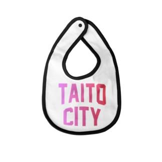 台東区 TAITO CITY ロゴピンク Baby bibs