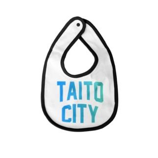 JIMOTO Wear Local Japanの台東区 TAITO CITY ロゴブルー Baby bibs