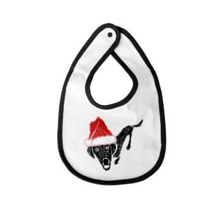 クリスマスTシャツ@サンタな黒ラブ ベイビービブ