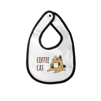 COFFEE CAT Baby bibs