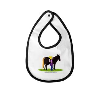 うまのりめいじん①(馬シリーズ) Baby bibs