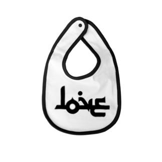 LOVE ラブ アラビア風 Baby bibs