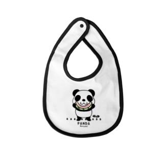 CT169 ズレちゃんとTWIN PANDAS*C Baby bibs