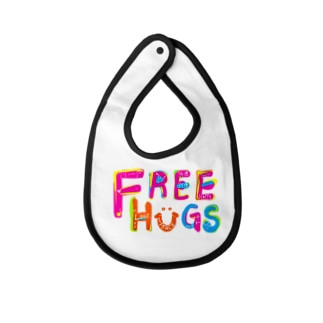 フリーハグ/FREE HUGS Baby bibs