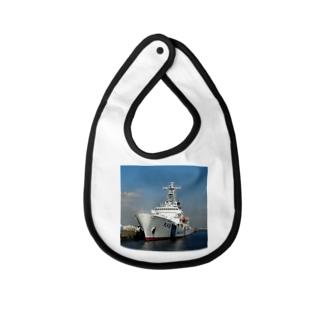 """海上保安庁:PLH32あきつしま Japan Coast Guard Ship """"Akitsushima"""" Baby bibs"""