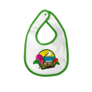 Lowbrow Tropical Ear Flower Baby bibs