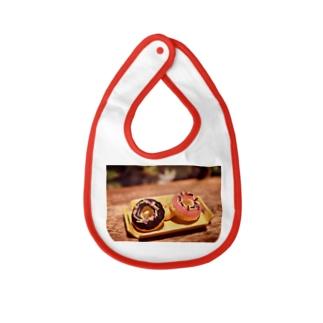 【スイーツ】Prism coffee beanのミニチュアドーナツ Baby bibs