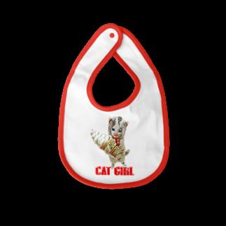 Rock catのCAT GIRL ソフトクリーム Baby bibs