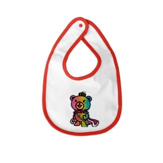 BASEfor BEAR Rainbow Baby bibs