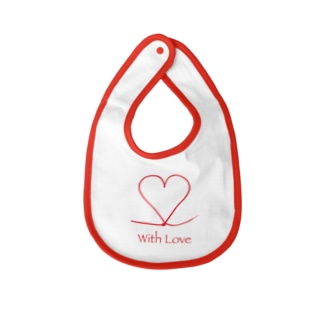 With Love Baby bibs