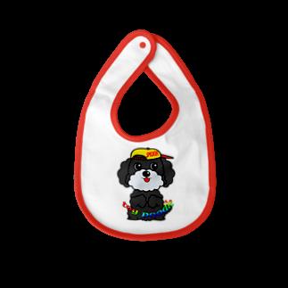 オリジナルデザインTシャツ SMOKIN'のちんちんトイプードル Baby bibs