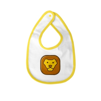 Savanna lion face Baby bibs