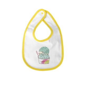 Choco Mint ハリネズミ Baby bibs
