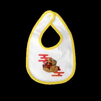 奈々菜の霞タヌキさん Baby bibs