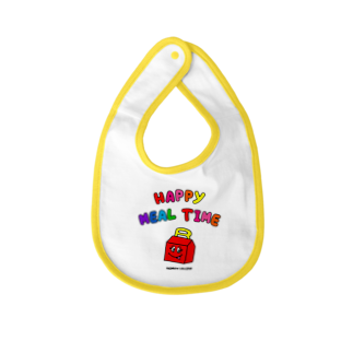 RAINBOW LOLLIPOPのHAPPY MEAL TIME Baby bibs
