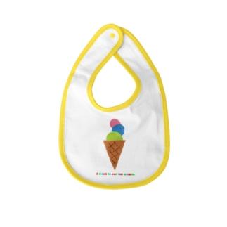 アイスクリーム 食べたい! Baby bibs