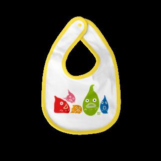 ウチダヒロコ online storeの横並びダンゴウオ Baby bibs