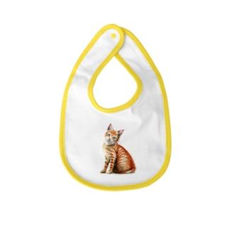 茶トラ子猫 Baby bibs