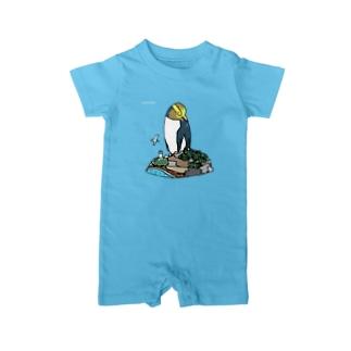 キガシラペンギン Baby rompers
