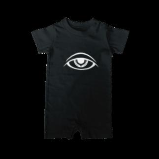 呪術と魔法の銀孔雀の瞳と魔法 ベイビーロンパース