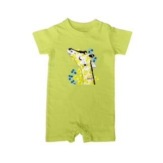 Girafflower お花キリン Baby rompers