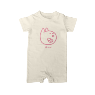BAMI SHOPのにっこりボンくん(ピンク) Baby rompers