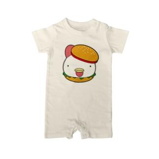 チキンバーガー Baby rompers
