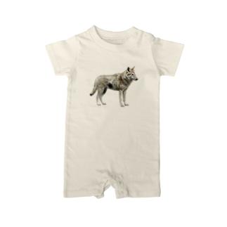 オオカミ ベイビーロンパース