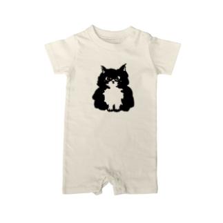 The Fluffy Cat ベイビーロンパース