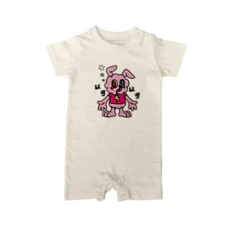 JUNKIE GREY【Pink】     Baby rompers