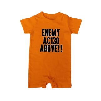 EAA!! Official Store - EAA!! 公式ストアのEnemy AC130 Above!!(white)ベイビーロンパース