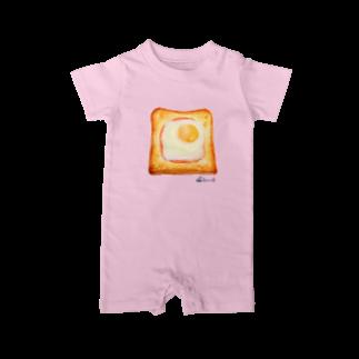 3pondSのエッグトースト ベイビーロンパース