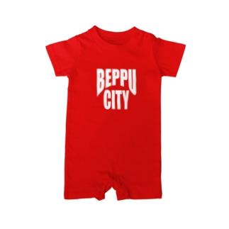 BEPPU CITY (white) ベイビーロンパース