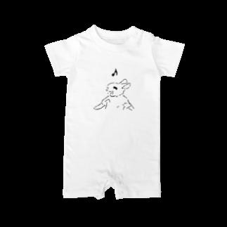 AngelRabbitsのうさぎむすこ(黒9) Baby rompers
