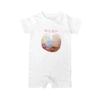 赤ちゃんと海 ベイビーロンパース