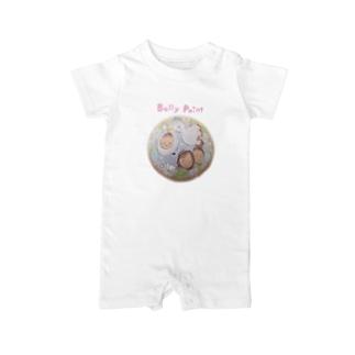 コウノトリと赤ちゃん ベイビーロンパース