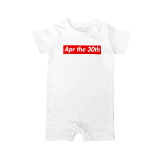 Apr the 30th(4月30日) Baby rompers