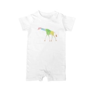 動物 キリン Baby rompers