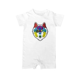 狼-絵具 Baby rompers