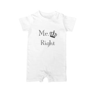 おしゃれな千鳥柄ファッションMr.Right Baby rompers