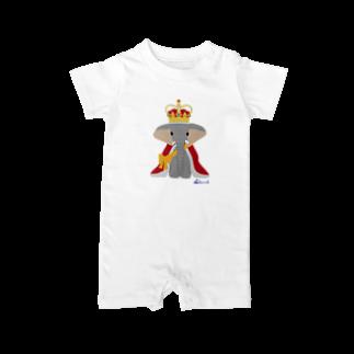 3pondSのゾウの王様 Baby rompers