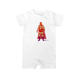 3pondSのRed Rucha Baby rompers