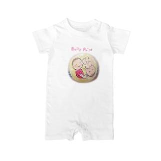 赤ちゃんと月 ベイビーロンパース