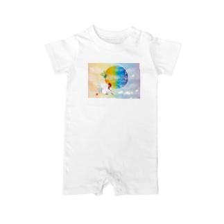 酉年のニワトリのイラストgoods Baby rompers